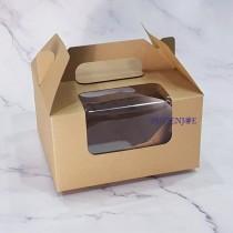 牛皮手提開窗蛋糕盒 (16.5*16.5*9cm)
