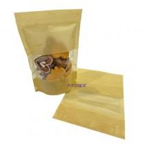 【特惠】雲龍鏤空(米) KOP保鮮夾鏈立袋 (165*235+40mm)(50入/包)