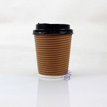 8oz瓦楞(咖)不燙杯/咖啡杯(25入/串)