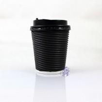 8oz瓦楞(黑)不燙杯/咖啡杯(25入/串)