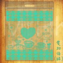 愛加倍(綠) PP歐風手提夾鏈袋 (280*300mm) (50入/包)