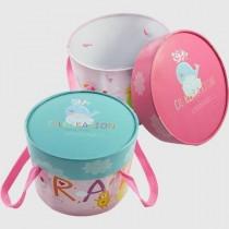 馬卡樂園(粉) 圓形糖果盒(18*14cm)