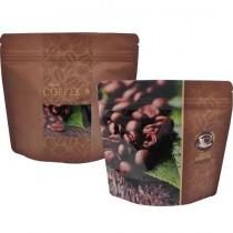 FJ-8A COFFEE 半磅咖啡夾鏈氣閥袋 (185*175+45mm)(50入/包)