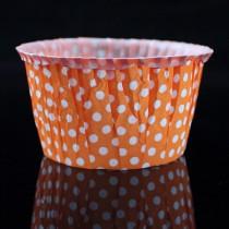瑪芬杯(50*40*70mm)橘白點(25入/串)