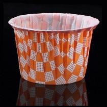瑪芬杯(43*39*60mm)橘格(25入/串)