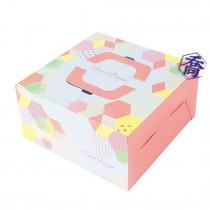 六角夢田 6吋手提蛋糕盒 (17.7*17.7*10.5cm)