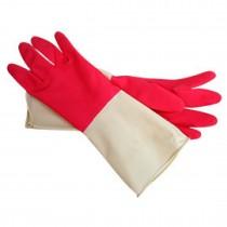 雙節色廚房清潔手套(7.5*13英吋)