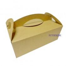 牛皮 4K野餐盒(24*15.4*9cm)