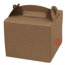58B 手提正方瓦楞盒 (18.5*18.5*15.5cm)