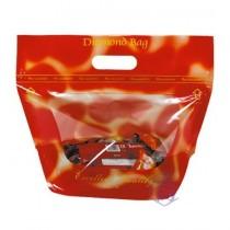 FJ-601 印刷-鑽石型(大) 手提夾鏈立袋 (310*270+160mm)(50入/包)