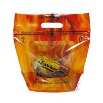 FJ-603 橘彩-鑽石型(小) 手提夾鏈立袋 (240*270+110mm)(50入/包)