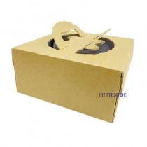 【預訂#100個】牛皮 手提8吋派盒(23.5*23.5*9cm)