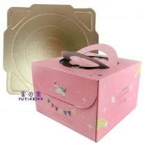 彩虹小馬 手提6寸蛋糕盒(22*22*15cm)