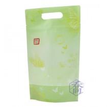 FJ-818 花弄蝶(綠) 手提夾鏈立袋 (185*315+45mm)(50入/包)