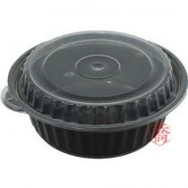【8311】6吋黑底微波圓盒(11*6cm)