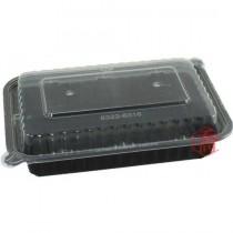 【8316】方型黑底微波圓盒(15.5*9*5.5cm)
