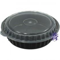 【8337】8吋黑底微波圓盒(16.6*6.5cm)