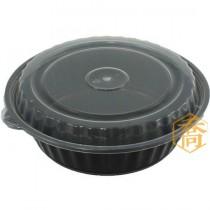 【8377】7吋黑底微波圓盒(13*6.1cm)