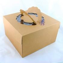 8吋原色開窗蛋糕盒 (25.5*25.5*15cm)