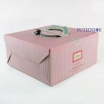 可麗兒 手提8吋布丁盒/蛋糕盒(23.5*23.5*11.7cm)