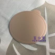 【買10送1】8cm玫瑰金圓型蛋糕紙托(50入/包)