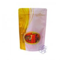 進口-FJ-907-1 流金時光(粉) 夾鏈立袋 (165*250+45mm)(50入/包)