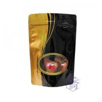 進口-FJ-907-1 流金時光(黑) 夾鏈立袋 (165*250+45mm)(50入/包)