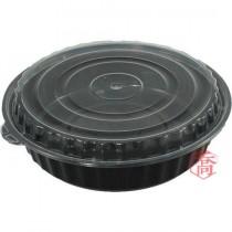 【9999】9吋黑底微波圓盒(18.5*6.5cm)