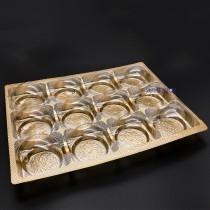 12粒蛋黃酥內襯+透明蓋(19.3*25.5*2.3cm)