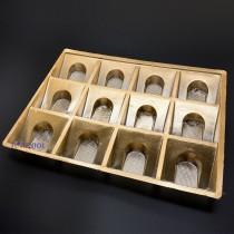 12粒鳳梨酥內襯(斜襯無蓋)(19.5*25.5*2.3cm)