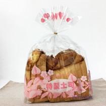 OPP 吐司袋-花彩(粉) (28*32+10cm) (1KG/包)