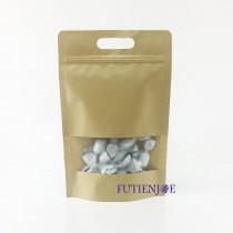 進口-牛皮開窗 手提霧面夾鏈立袋 (160*250+40mm)(50入/包)
