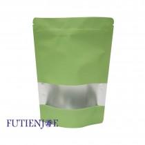 進口-單色鍍鋁開窗夾鏈立袋(碧綠)(160*240+40mm)(50入/包)