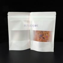 進口-白牛皮開窗霧面夾鏈立袋 (100*150+30mm)(50入/包)