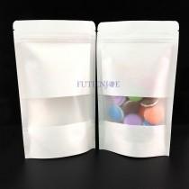 進口-白牛皮開窗霧面夾鏈立袋 (140*200+40mm)(50入/包)