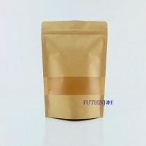 進口-牛皮開窗霧面夾鏈立袋 (140*200+40mm)(50入/包)