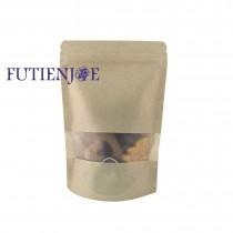 台製-牛皮開窗霧面夾鏈立袋 (150*220+40mm)(50入/包)