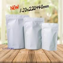 進口-全白電鍍夾鏈立袋(150*220+40mm)(50入/包)