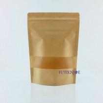 進口-牛皮開窗霧面夾鏈立袋 (170*240+40mm)(50入/包)