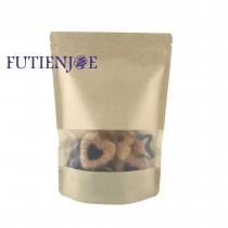 台製-牛皮開窗霧面夾鏈立袋 (170*240+40mm)(50入/包)