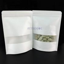 進口-白牛皮開窗霧面夾鏈立袋 (180*260+40mm)(50入/包)