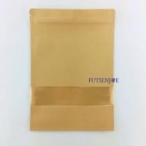進口-牛皮開窗 三面封夾鍊平袋(180*260mm)(50入/包)