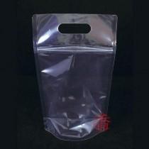 手提全透明夾鏈立袋 (180*320+40mm)(50入/包)#1832