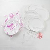 【買10送1】14cm蛋糕盤叉套組(6組/包)