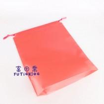 28*35+6*25cm粉紅束口折角袋