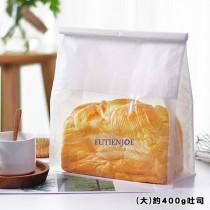 鐵絲捲邊吐司袋(大)(22*28+11cm)(50入/包)