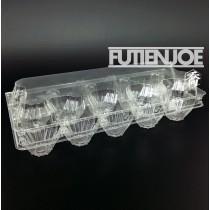 加厚平底自扣PLA10粒蛋盒(24.9*10.5*6.6cm)(100入/包)