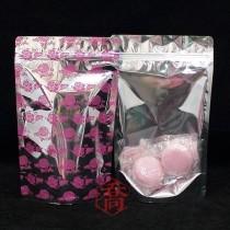 進口-四兩 桃紅花夾鏈立袋 (120*210+35mm)(50入/包)