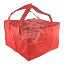 8吋全紅方型手提保冷/保溫袋(28*28*18cm)