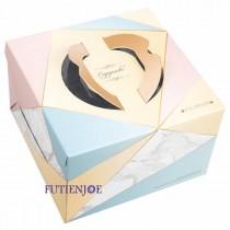 幾何圖 6吋手提布丁蛋糕盒 (20*20*13cm)